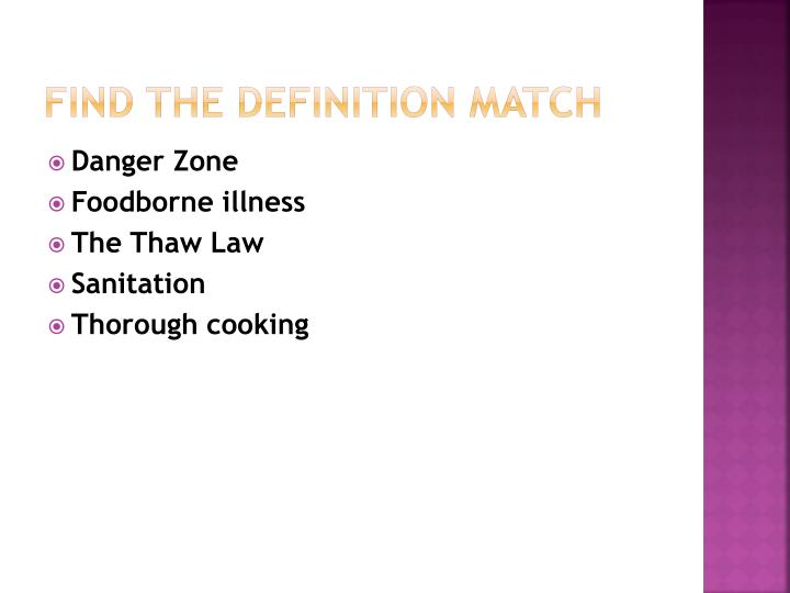 Find the definition match