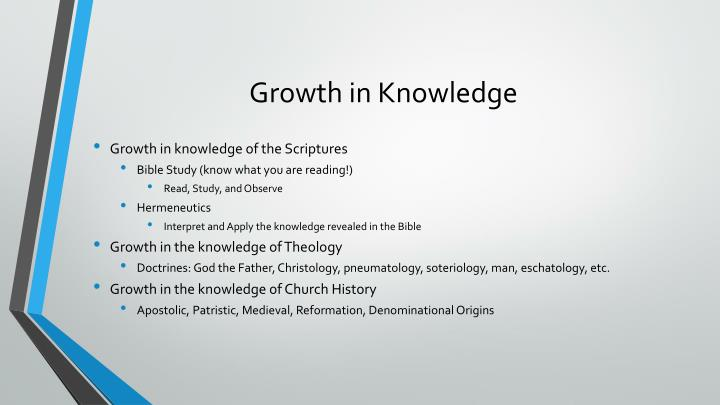 Growth in Knowledge