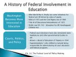 a history of federal involvement in education1