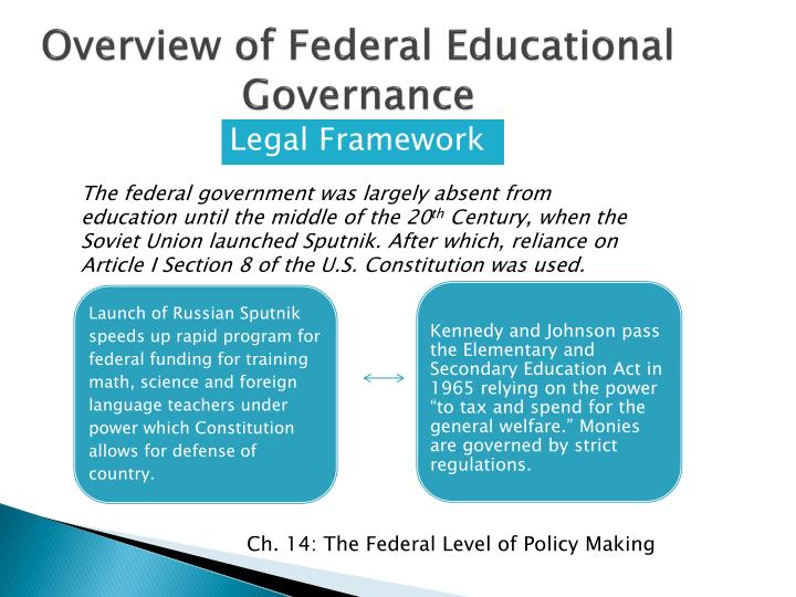 Overview of federal educational governance