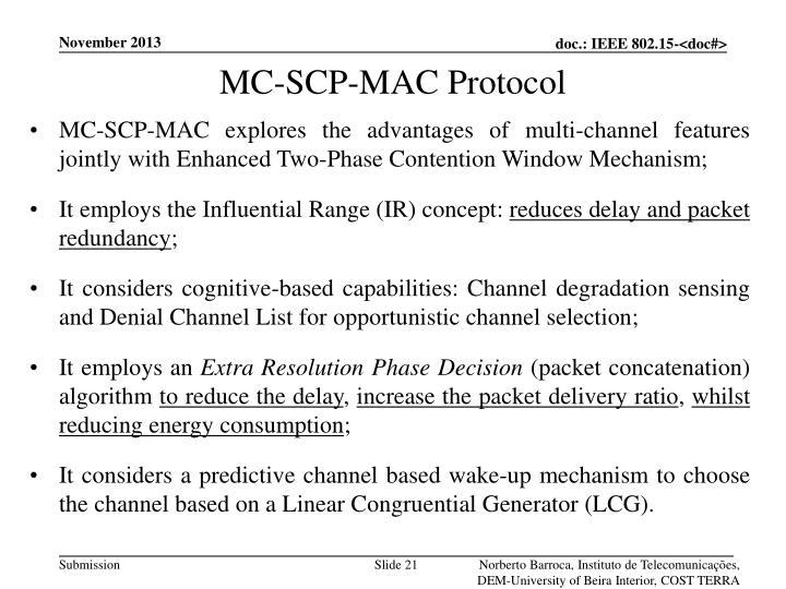 MC-SCP-MAC Protocol