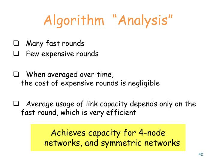 """Algorithm  """"Analysis"""""""