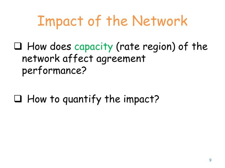 Impact of the Network