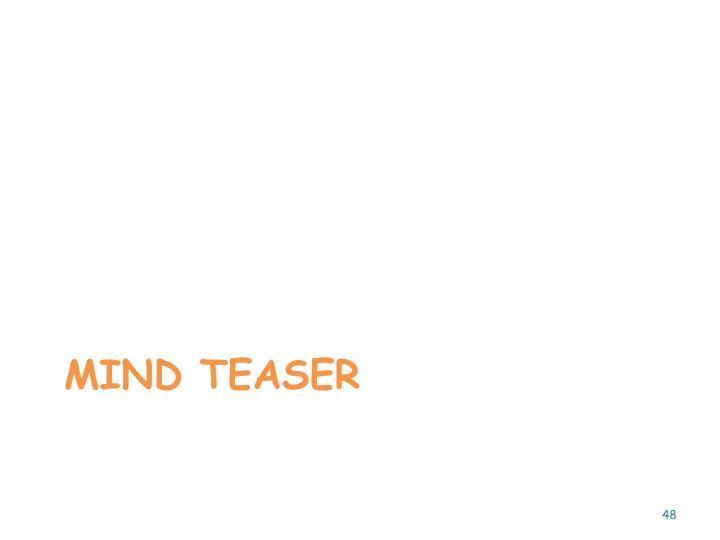 Mind teaser