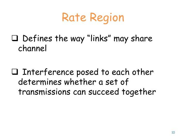 Rate Region