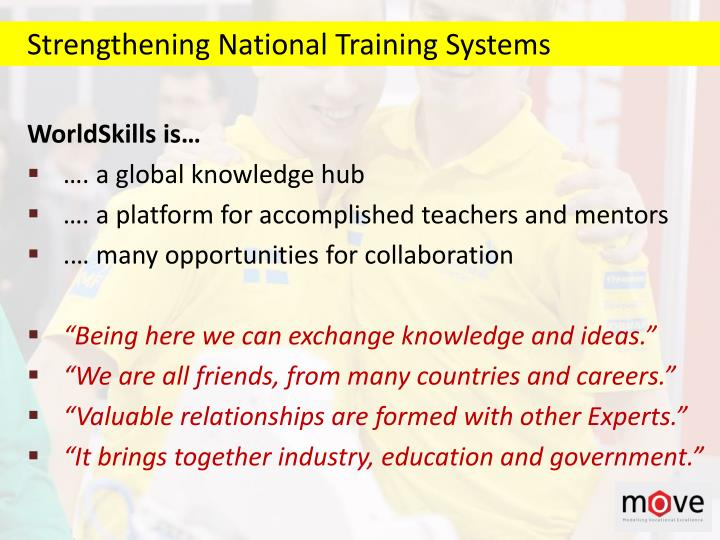 Strengthening National Training Systems