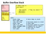buffer overflow stack