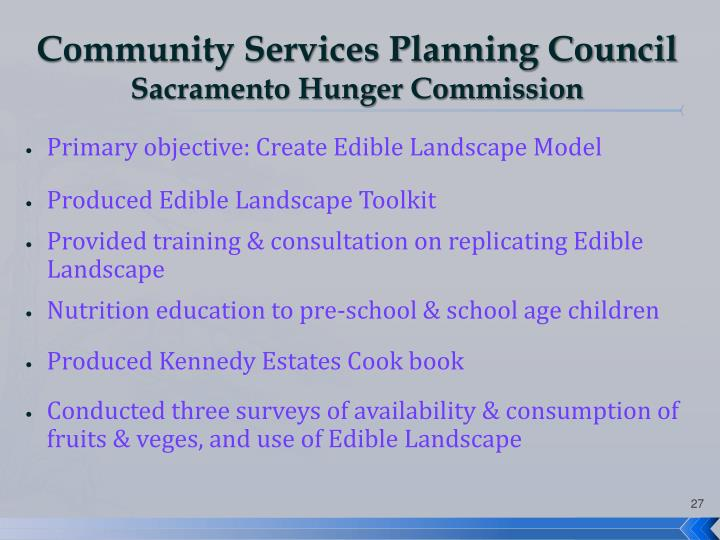 Community Services Planning Council
