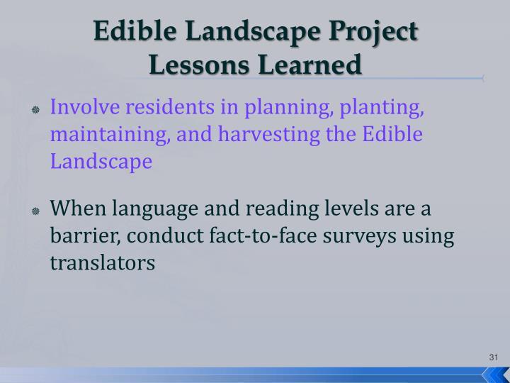 Edible Landscape Project
