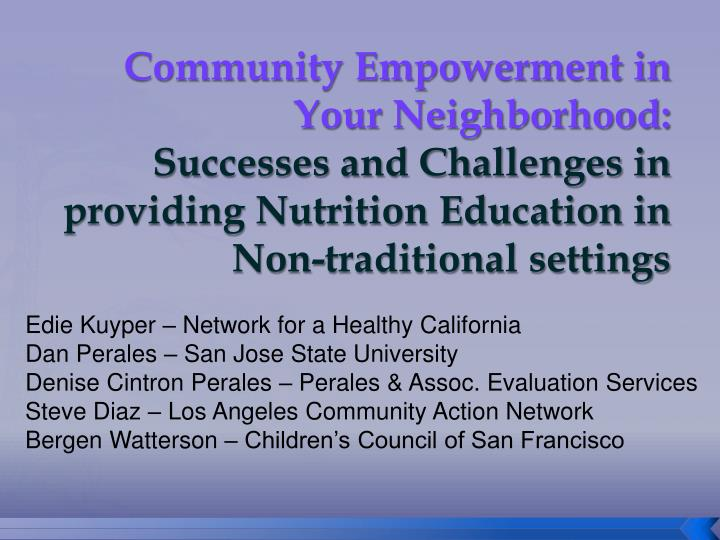 Community Empowerment in Your Neighborhood: