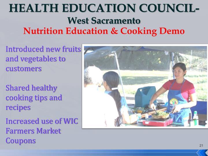 HEALTH EDUCATION COUNCIL-