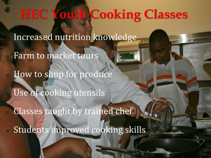 HEC Youth Cooking Classes