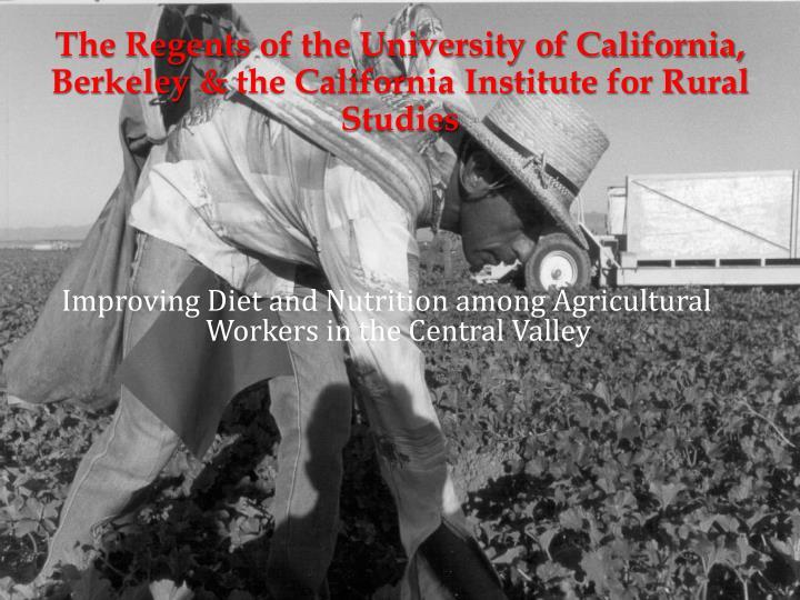 The Regents of the University of California, Berkeley &