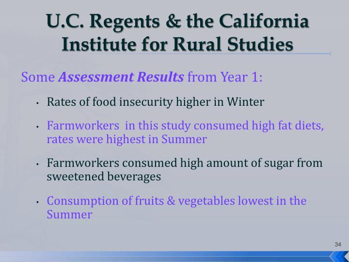 U.C. Regents & the California Institute for Rural Studies