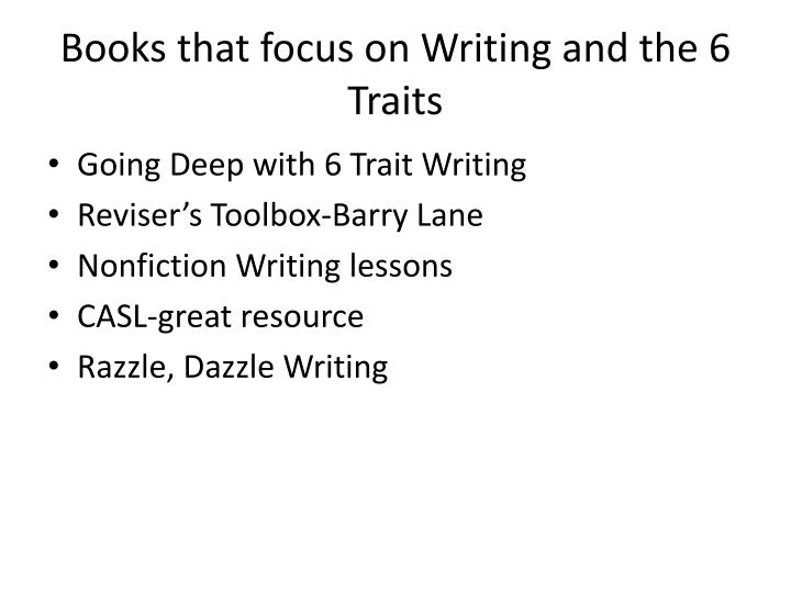 6 traits of writing lessons