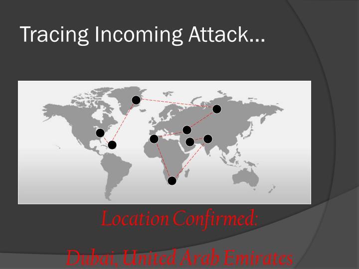 Tracing Incoming Attack…