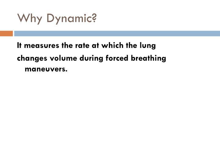 Why Dynamic?