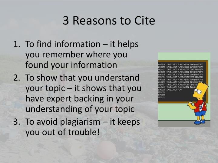 3 Reasons to Cite