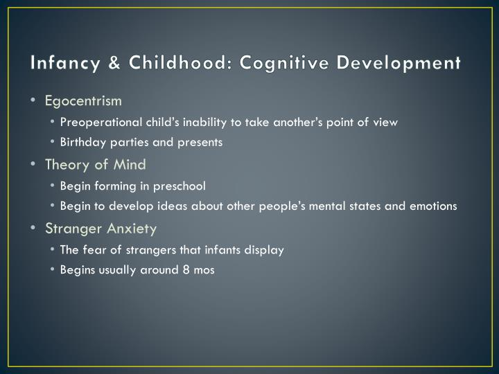 Infancy & Childhood: Cognitive Development