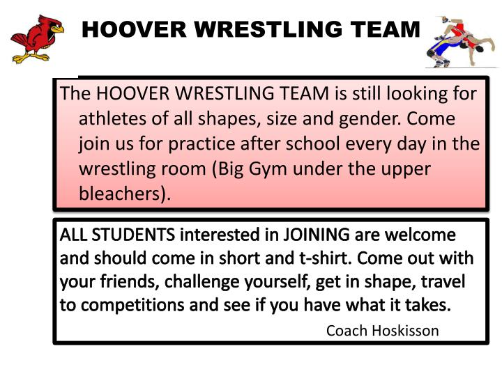 HOOVER WRESTLING TEAM