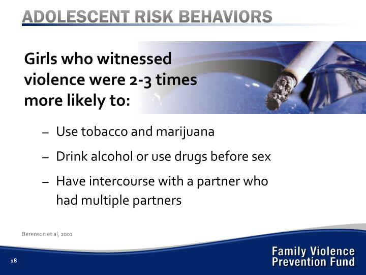 ADOLESCENT RISK BEHAVIORS