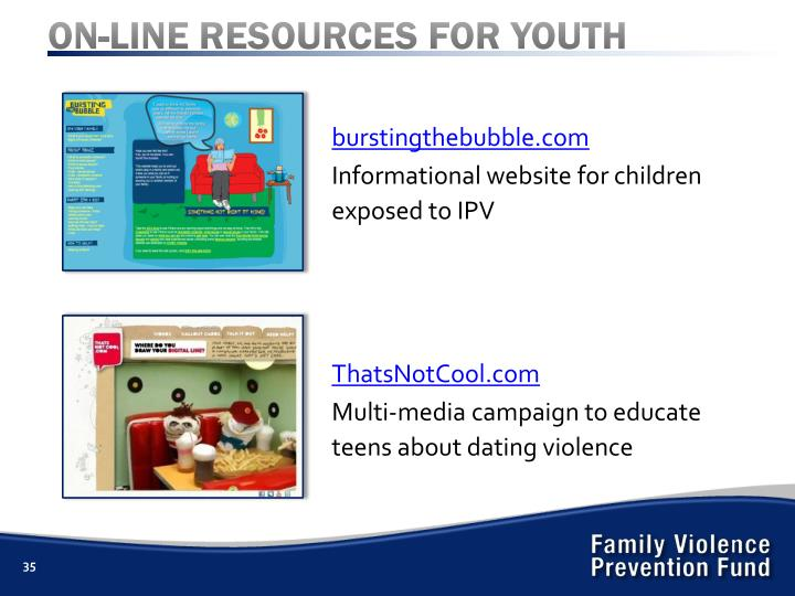 ON-LINE RESOURCES FOR YOUTH