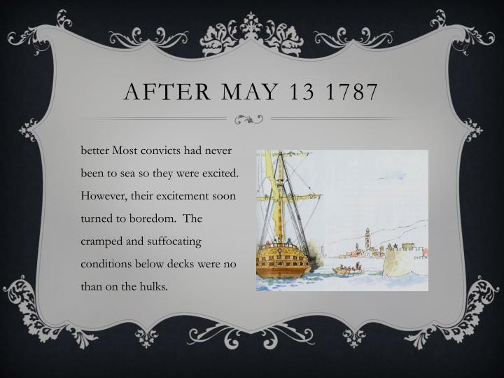 After May 13 1787