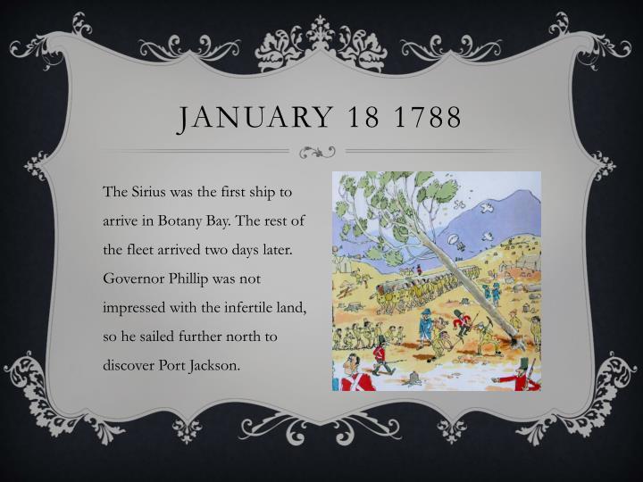 January 18 1788