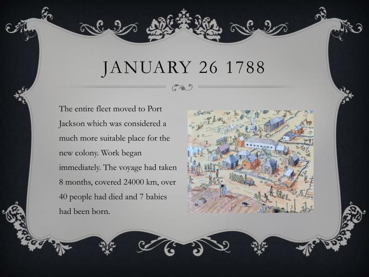 January 26 1788