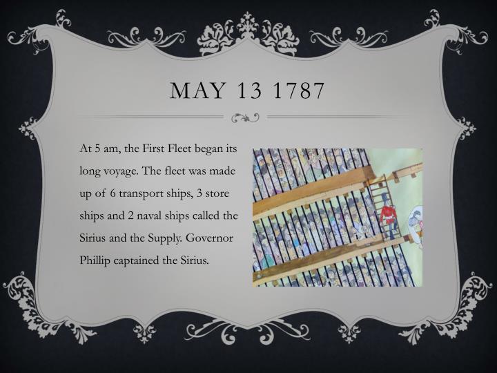 May 13 1787