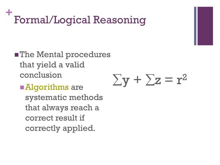 Formal/Logical Reasoning