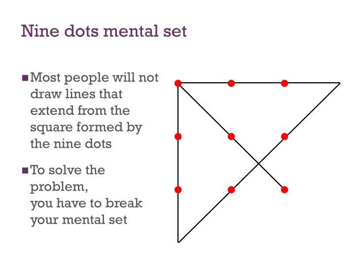 Nine dots mental set
