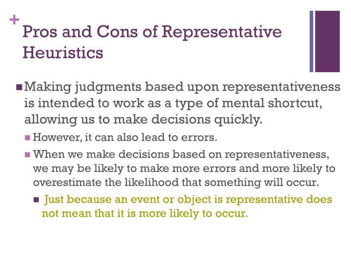 Pros and Cons of Representative Heuristics
