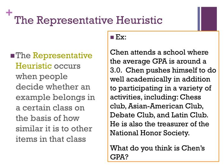 The Representative Heuristic