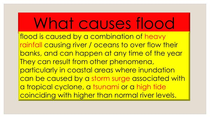 What causes flood