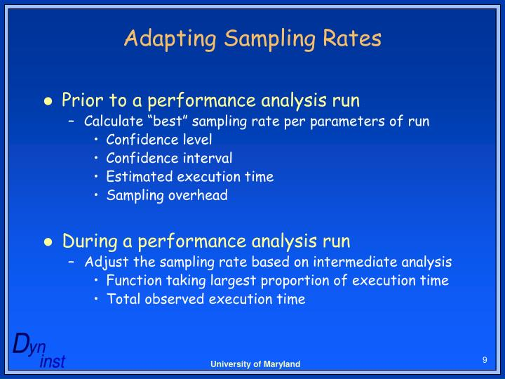Adapting Sampling Rates
