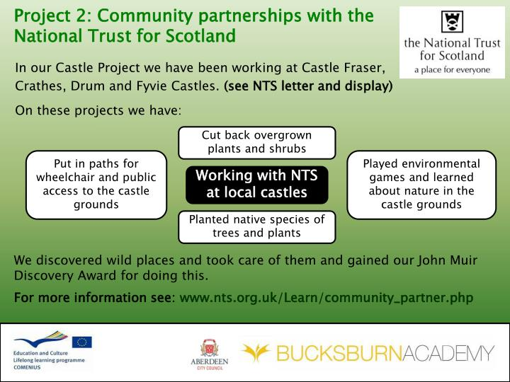 Project 2: Community partnerships with the National Trust for Scotland