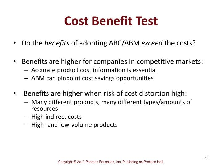 Cost Benefit Test