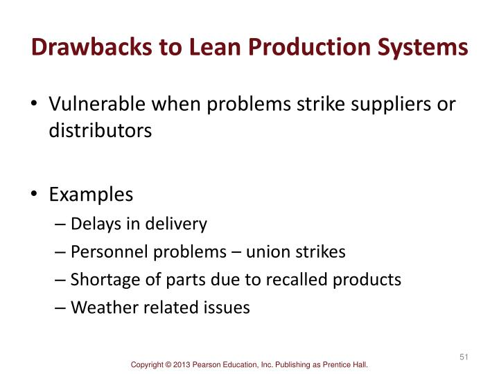 Drawbacks to Lean Production Systems