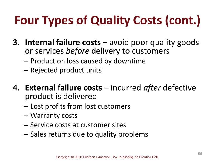 Four Types of Quality Costs (cont.)