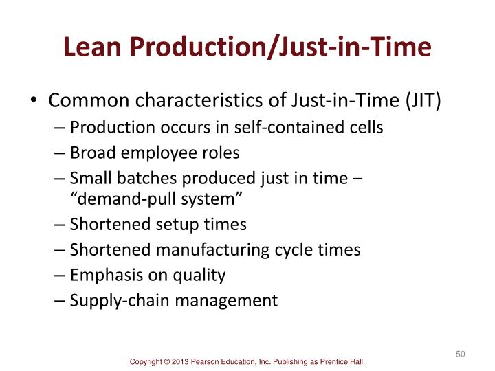 Lean Production/Just-in-Time