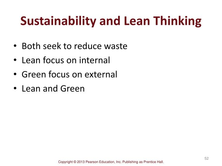 Sustainability and Lean Thinking