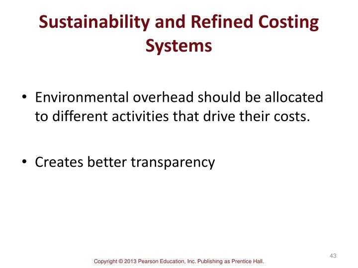 Sustainability and Refined Costing Systems