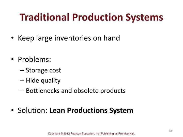 Traditional Production Systems