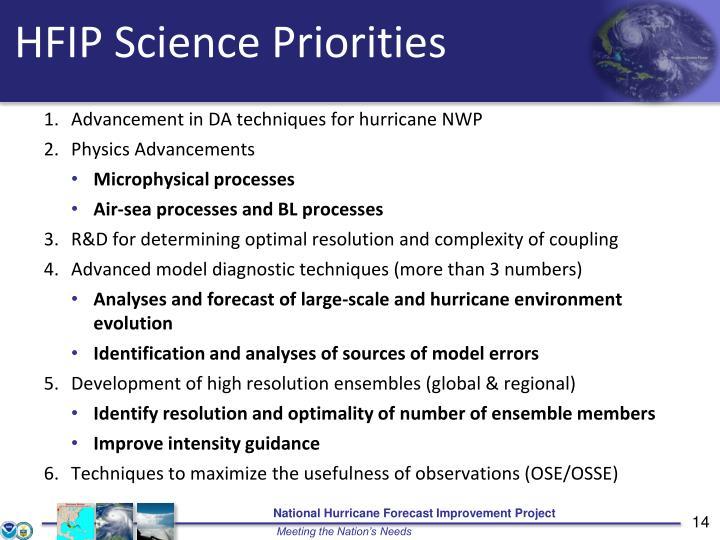 HFIP Science Priorities