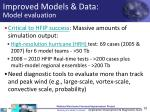 improved models data model evaluation