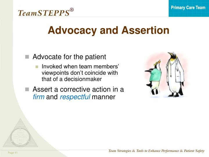 Advocacy and Assertion