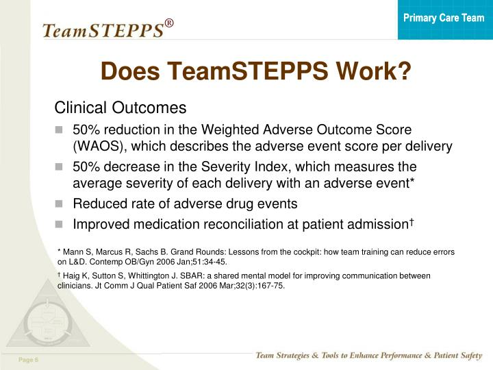 Does TeamSTEPPS Work?