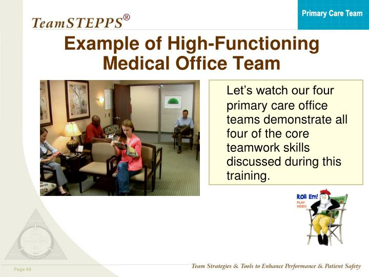 Example of High-Functioning Medical Office Team