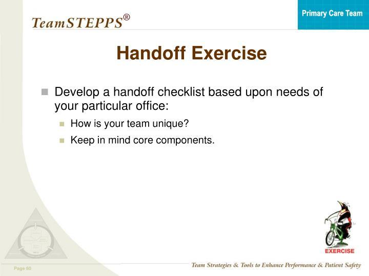 Handoff Exercise